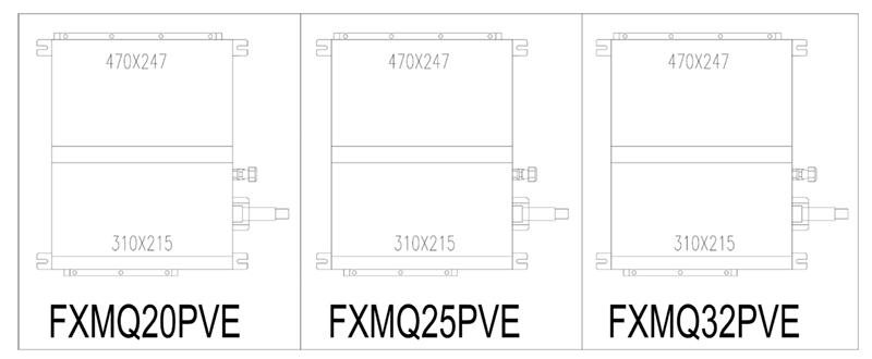 Kích thước điều hòa âm trần FXMQ20PVE